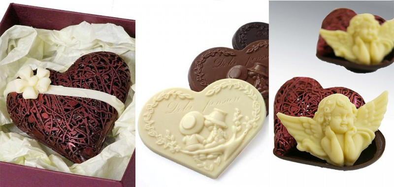 Шоколадови фигури Свети Валентин