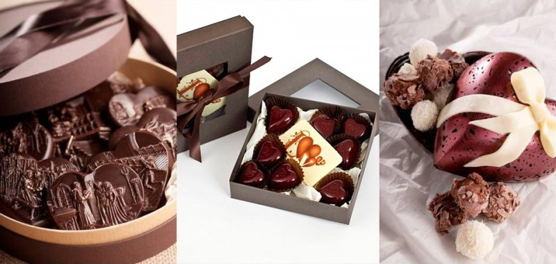 Шоколадови бонбони Свети Валентин