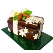 Шоколадово коледно сандъче с бонбони