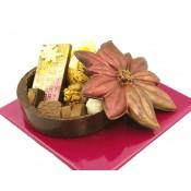"""Шоколадова кутия """"Коледна звезда"""" с бонбони"""