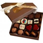 Кутия с 16 ръчно изработени шоколадови бонбона