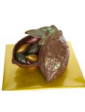 Шоколадово зърно с бонбони