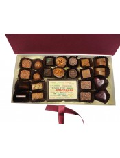 """Луксозна кутия с бонбони и плочка с надпис """"Обичам те"""", """"Честит Рожден Ден"""" или """"Благодаря"""""""
