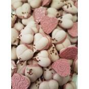 Целувки сърца с розов шоколад 8 бр./пак.