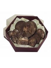 """Кутия с  шоколадови сърца """" Ромео и Жулиета"""""""