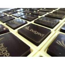 Шоколадова плочка с релефно лого