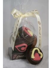 Комплект 6 бр. декоративни шоколадови бисквити