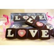 Млечен или Натурален шоколад с надпис LOVE - 40 гр.