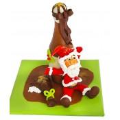 Шоколадови фигурки Дядо Коледа с бутилка