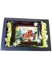 Шоколадова рамка в кутия с коледен мотив