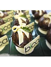 Шоколадова топка и плочка с лого или снимка