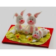 Захарни фигурки - зайчета