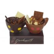 Комплект от 2 бр. шоколадови чашки с ядки