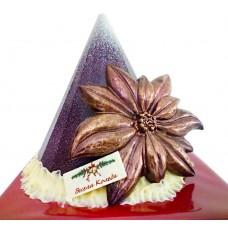 Шоколадова елха с коледна звезда