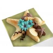 Шоколадова морска звезда с раковини