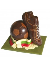 Комплект шоколадова футболна топка и обувка