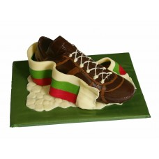 Шоколадова футболна обувка