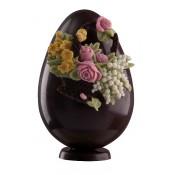 Шоколадово Великденско яйце с цветя